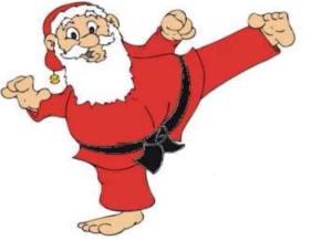 Karate-Weihnachtsmann