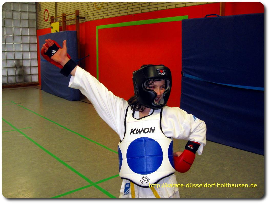 Karate Freikampf gewonnen