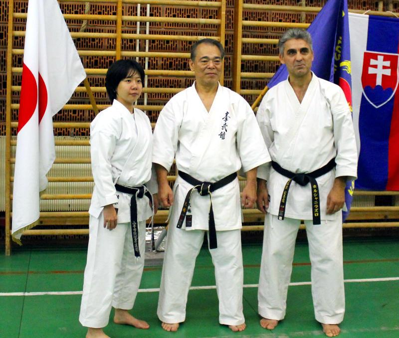 Sensei-Yoshio-Kuba-mit Sensei-Laszlo-Harsanyi-und-Sensei-Nana-Shimizu