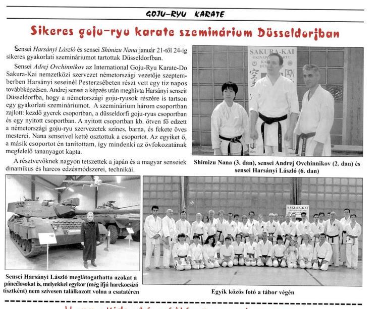 Karate Sakura-Kai Düsseldorf Budo Zeitschrift