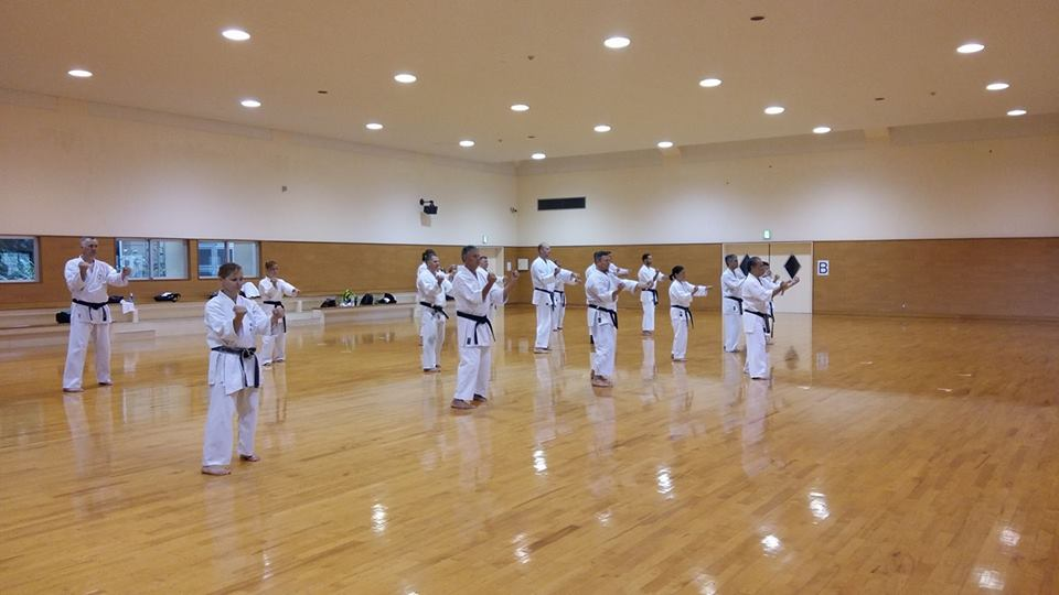 Sakura-Kai Team in Okinawa Karate Training