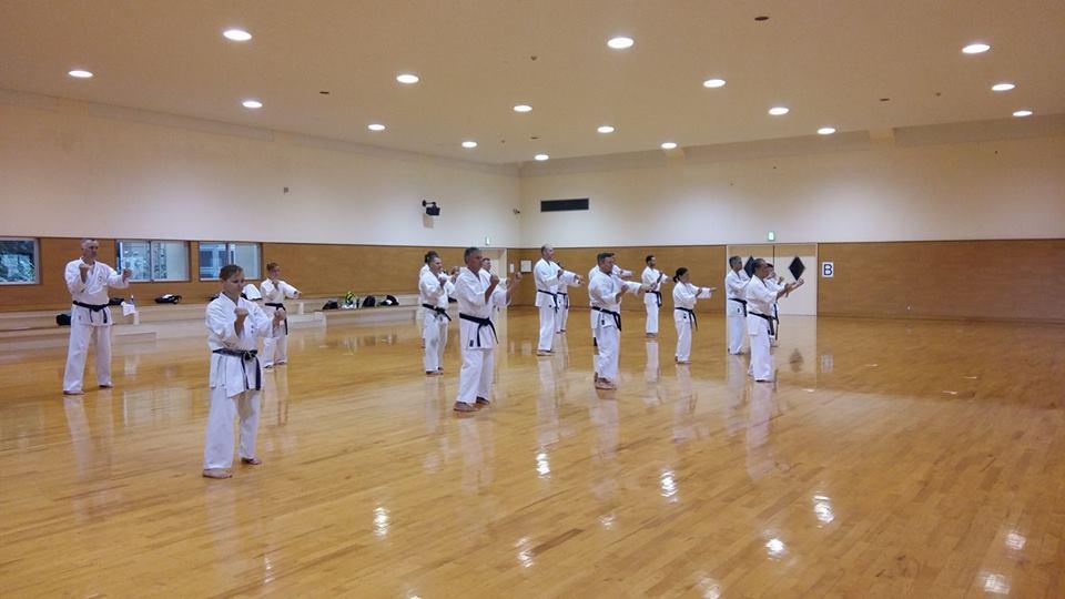Sakura-Kai Team in Okinawa Karate Training