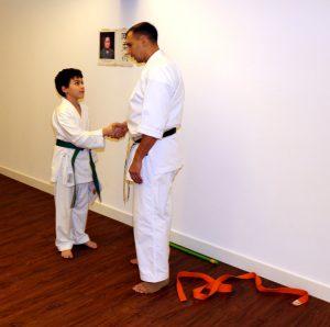 Karate in Düsseldorf Leon Rubinov Grüngurt Prüfung