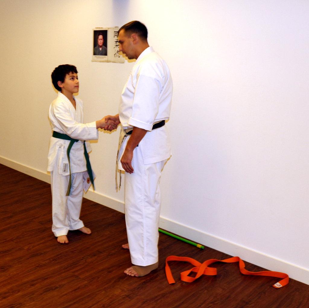 Karate in Düsseldorf Leon Rubinov Grüngurt Prügung 2